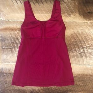 Lululemon Mesh Flowing Tank in pink melon